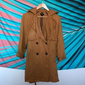 Topshop Camel Trench Coat